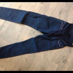 Dark wash maternity skinny jeans